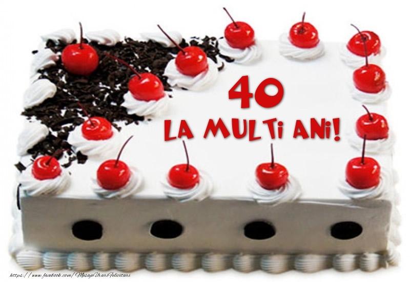 Tort 40 ani La multi ani!