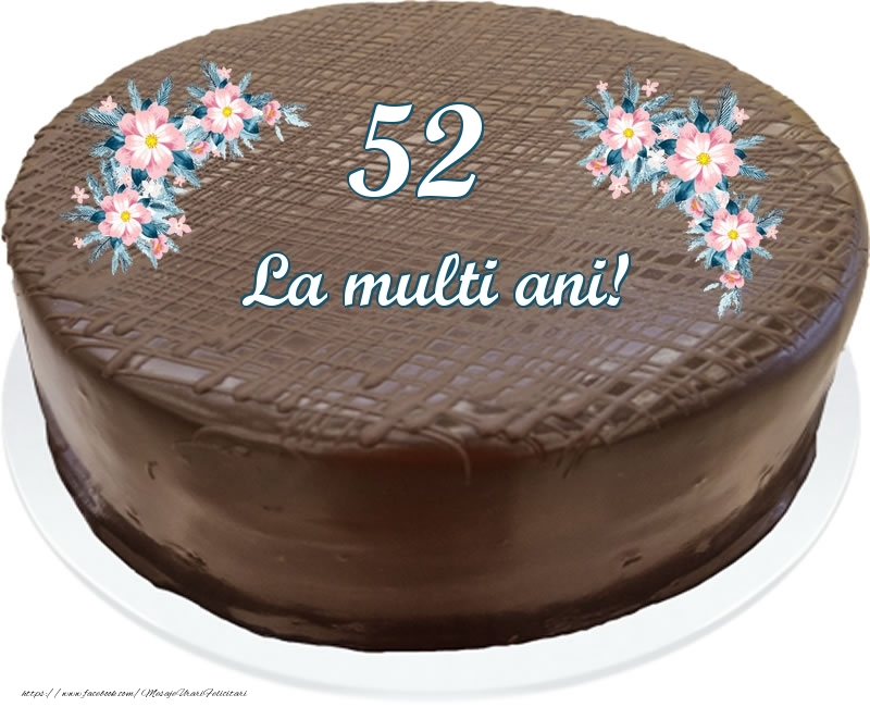 52 ani La multi ani! - Tort