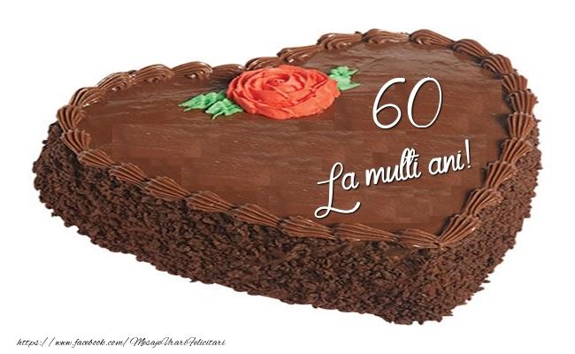 Tort in forma de inima: La multi ani 60 ani!