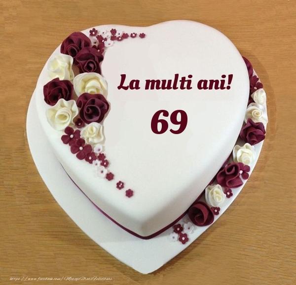 La multi ani 69 ani! - Tort Inimioara