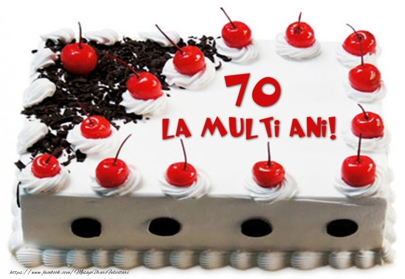 Tort 70 ani La multi ani!