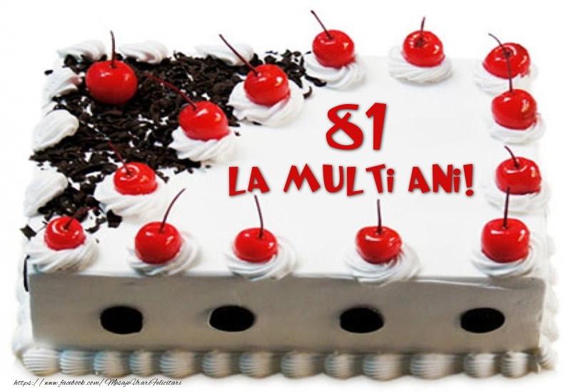Tort 81 ani La multi ani!