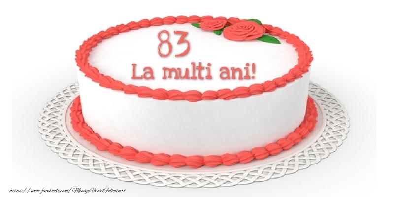 83 ani La multi ani! - Tort
