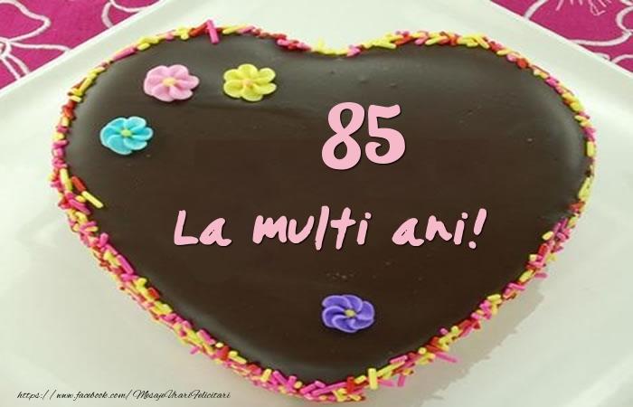 85 ani La multi ani! Tort