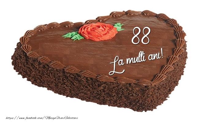 Tort in forma de inima: La multi ani 88 ani!