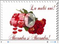 Felicitare muzicala si animata de Sfantul Alexandru