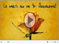 Felicitare muzica de Sfantul Alexandru!