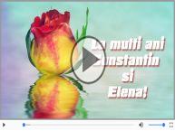 Felicitare muzicala si animata de Sfintii Constantin si Elena