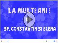 Felicitare muzica de Sfintii Constantin si Elena!