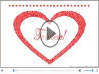 Felicitare muzicala si animata de dragoste