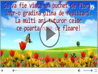 Felicitare muzicala si animata de Florii