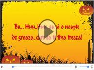 Felicitare muzicala cu mesaje de Halloween
