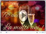 Felicitare muzicala: La multi ani, 78 ani!