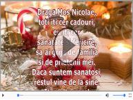 Scrisoare pentru Mos Nicolae