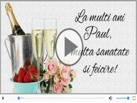 Felicitare muzica de Sfintii Petru si Pavel!