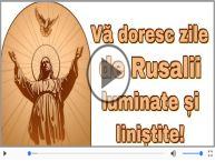 Felicitare muzicala de Rusalii