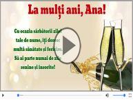 Felicitare muzica de Sfanta Ana!