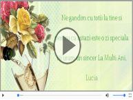 Felicitare muzicala de Sfanta Lucia!
