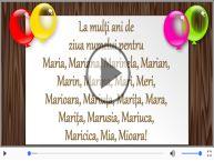 Felicitare muzicala de Sfanta Maria!