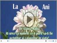 De Sfanta Maria, La multi ani sarbatoritilor!