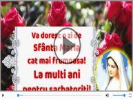 Felicitare muzica de Sfanta Maria!