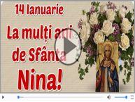 La mulți ani de Sfânta Nina!