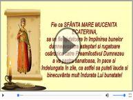 Felicitare muzicala si animata de Sfanta Ecaterina