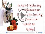 Felicitare muzicala de Sfantul Andrei!