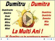 Felicitare muzicala cu mesaje de Sfantul Dumitru