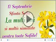 Felicitare animată de Sfânta Sofia