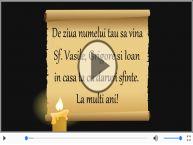 Felicitare muzicala si animata de Sfintii Vasile, Grigore si Ioan