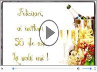 La multi ani 56 ani! Melodia: La multi ani versiunea originala!