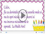 Felicitare muzicala de zi de nastere - La multi ani, Calin!