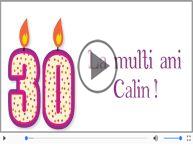 Felicitare muzicala de zi de nastere cu numele Calin