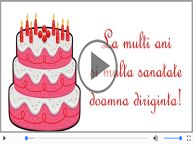 Happy Birthday to you, Doamna diriginta!