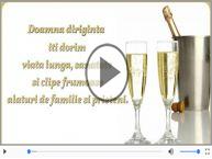 Felicitare muzicala de zi de nastere - La multi ani, Doamna diriginta!