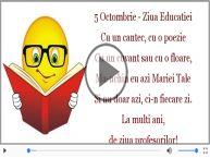 5 Octombrie - Ziua Educatiei