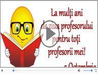 Felicitare muzicala de Ziua Profesorului - Gaudeamus Igitur!