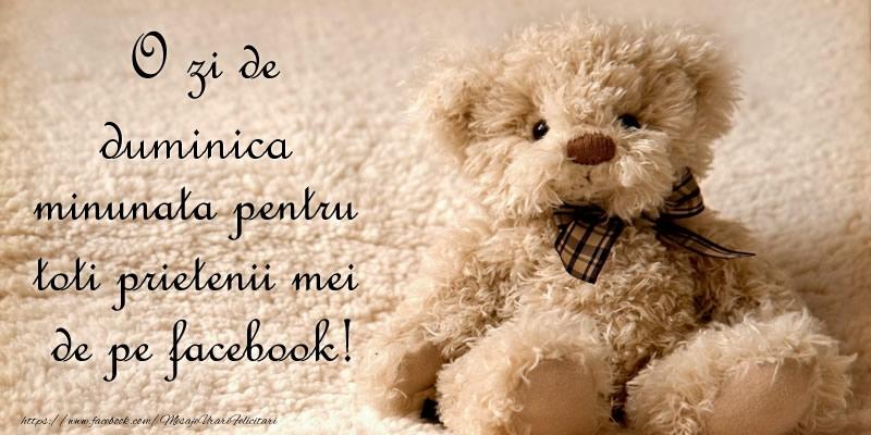 O zi de duminica minunata pentru  toti prietenii mei de pe facebook!
