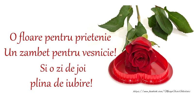 O floare pentru prietenie Un zambet pentru vesnicie! Si o zi de joi plina de iubire!