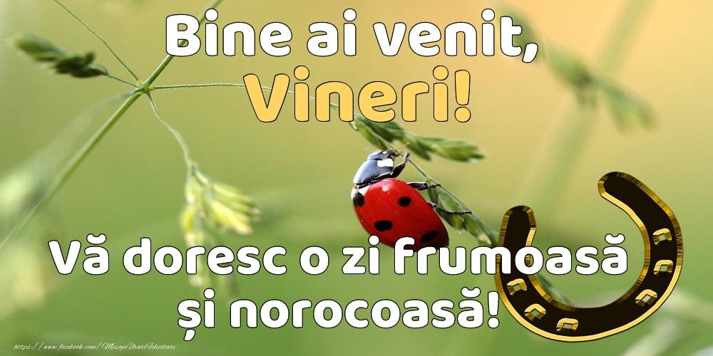 Bine ai venit, vineri! Vă doresc o zi frumoasă și norocoasă!